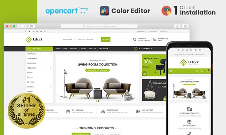 Flory Furniture OpenCart bestseller