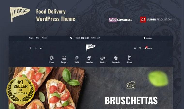 Foodz WooCommerce bestseller
