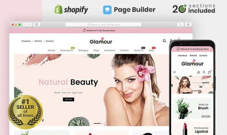 Glamour Shopify bestseller