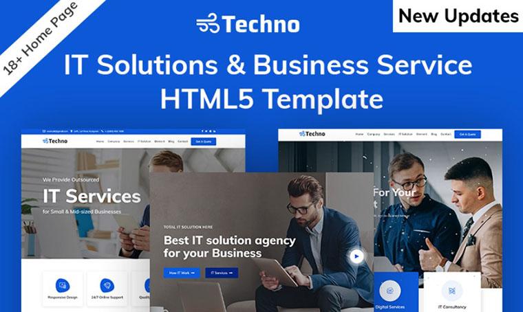 Techno - IT HTML slider template