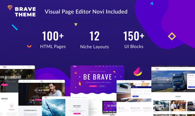 Brave - HTML slider template
