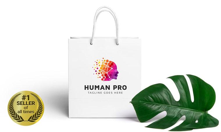 Human Pro Logo template