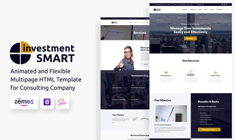 Investment Smart - HTML slider template