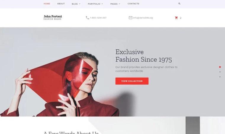 John Fortezi - Elegant HTML Slider Store template