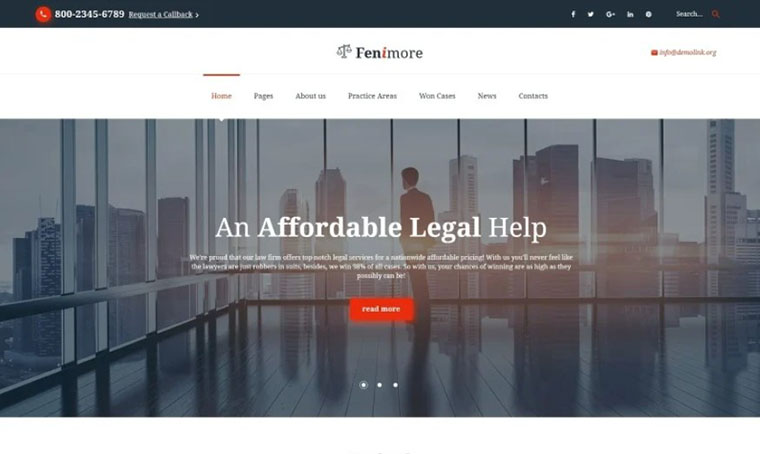 Law Firm HTML slider template