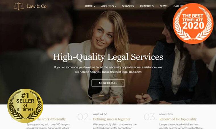 Law&Co Drupal template