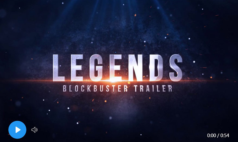 Legends - blockbuster trailer - After Effects template