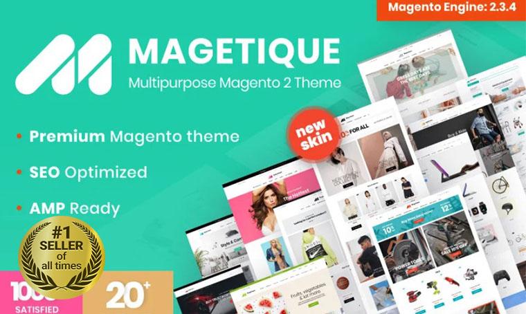 Magetique AMP Magento Template
