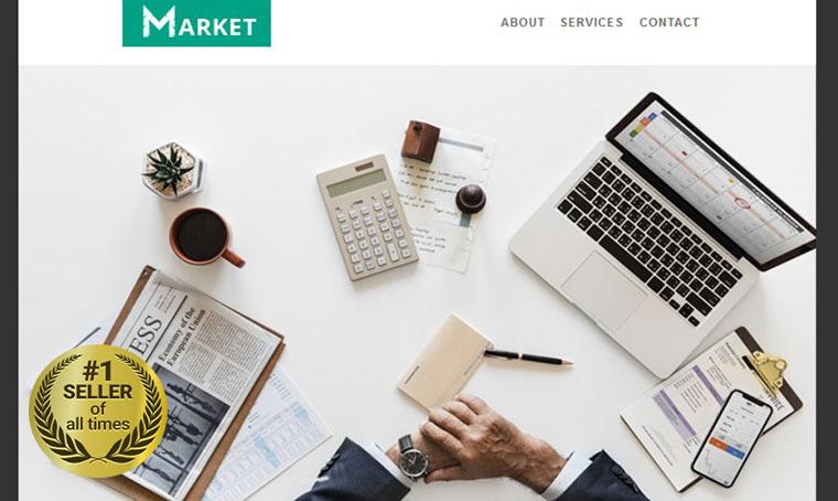 Market Newsletter template digital bestseller