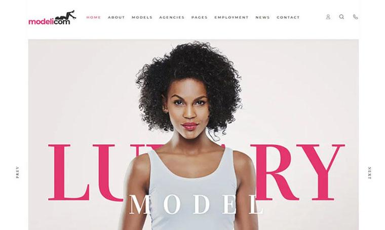 Modelicom - Model Agency Portfolio website template