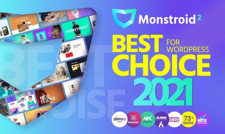 Monstroid2 Elementor WordPress Theme for Business