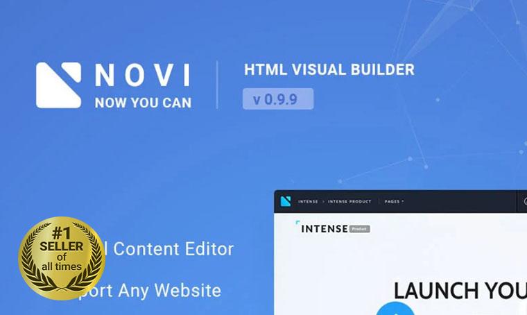 Novi Visual HTML builder digital bestseller
