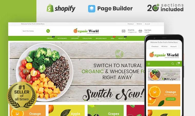 Organic World Shopify bestseller