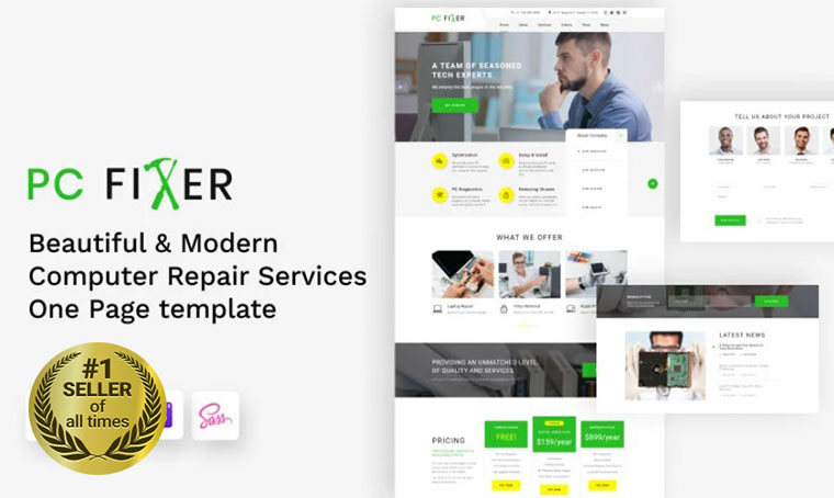 PC-fixer landing page template
