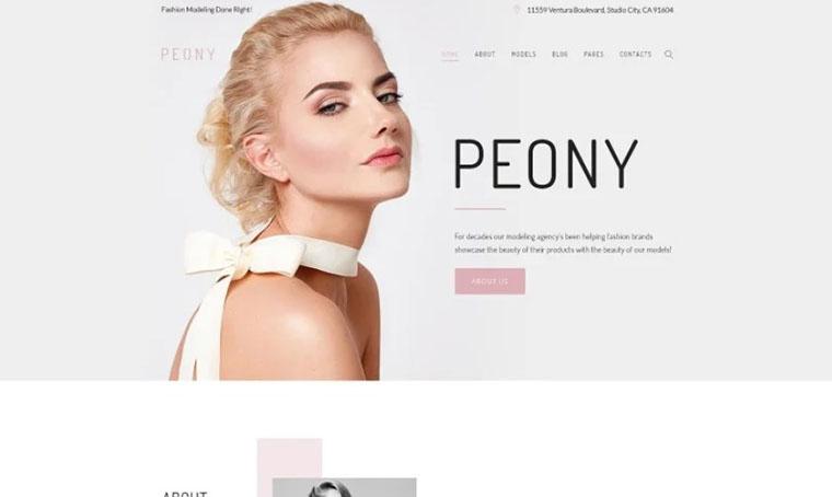 Peony - Modelling Agency Fashion WordPress theme