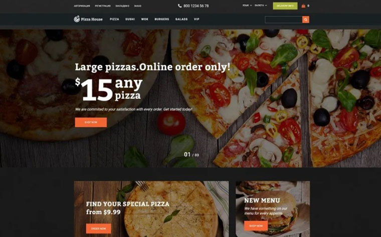 Pizza House - Pizza Restaurant With Online Ordering System