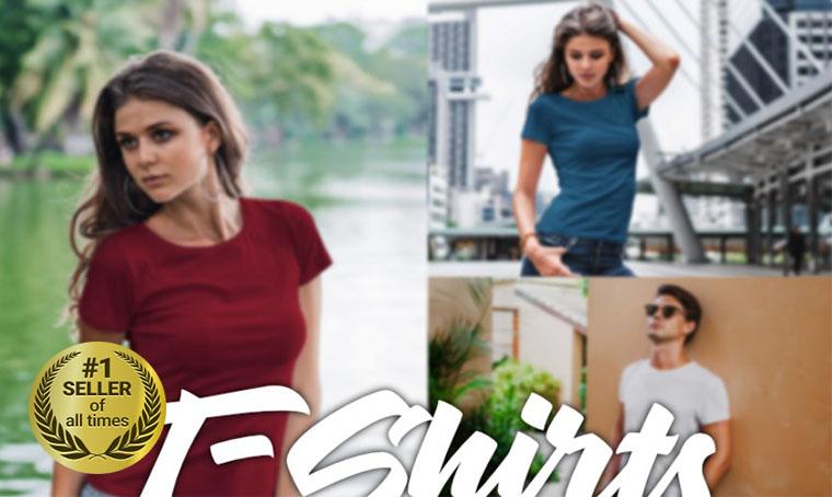 Premium T-shirt mockup digital bestseller