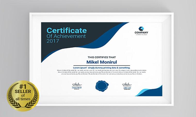 Press Certificate Template digital bestseller