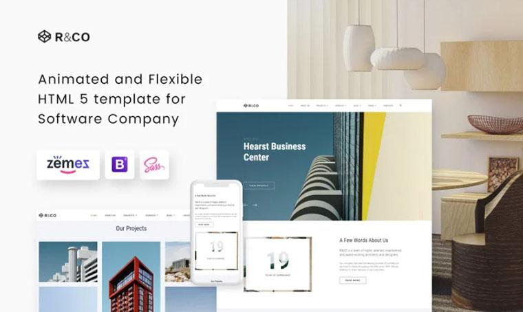 R&CO - architecture HTML slider template