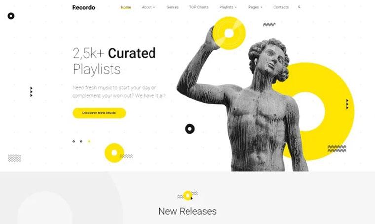 Recordo - Music Studio HTML slider template