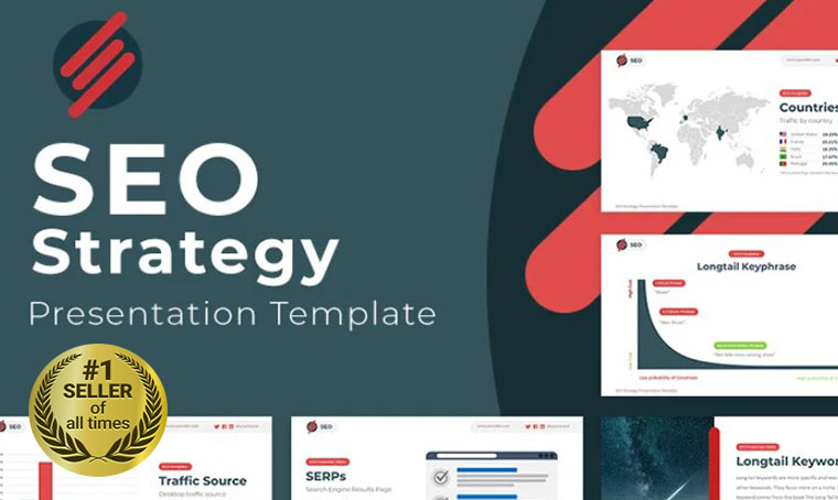 SEO Strategy Google Slides template