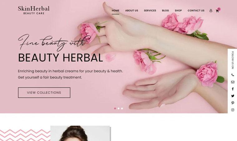 SkinHerbal eCommerce Fashion WordPress theme