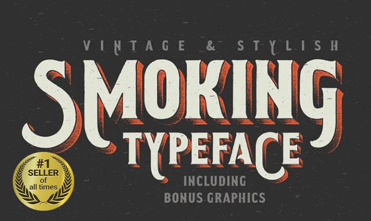 Smoking Font digital bestseller