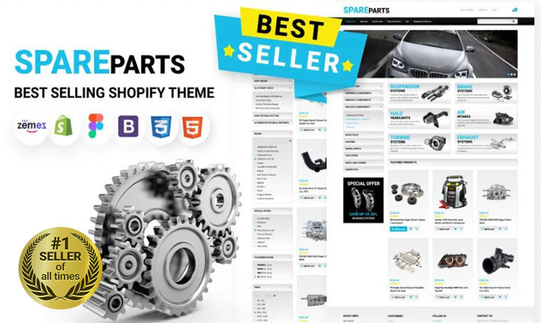 SpareParts Shopify bestseller