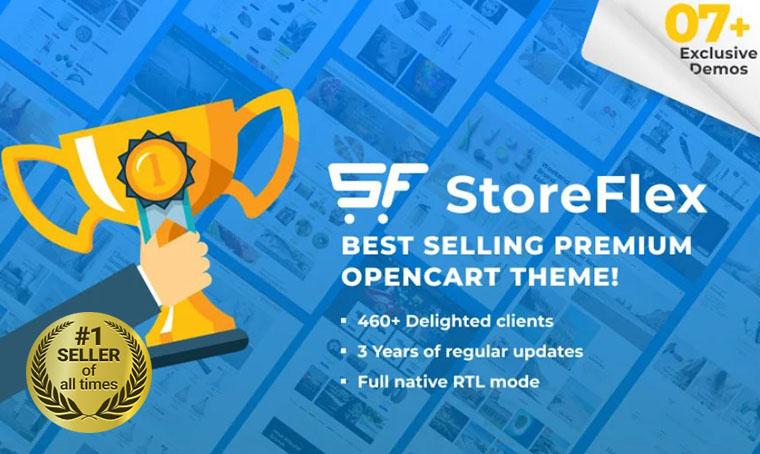 StoreFlex Multipurpose RTL OpenCart theme