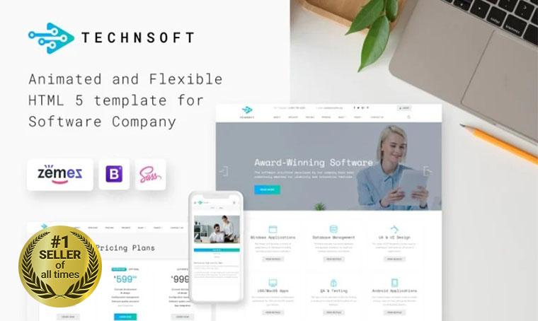 TechSoft Software dvelopment HTML template