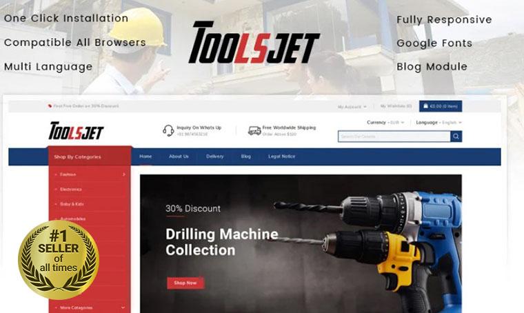 Toolsjet PrestaShop theme