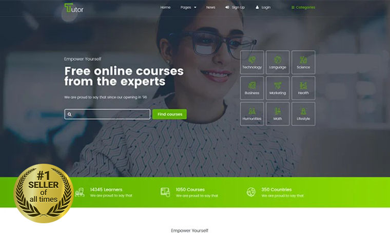 Tutor Educational HTML template