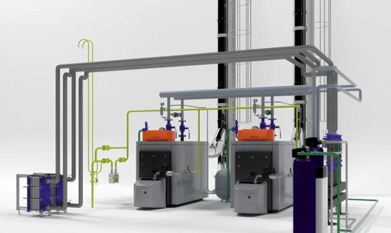 Viessmann Industrial Boilers Unit 3D Model