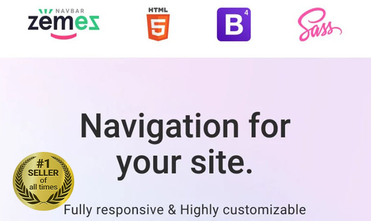 Responsive Navbar JavaScript by Zemez digital bestseller