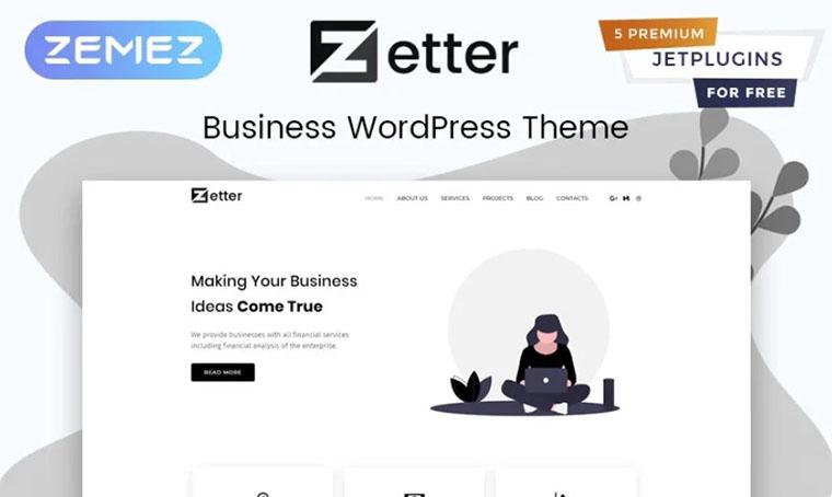 Zetter - Business Multipurpose WordPress theme
