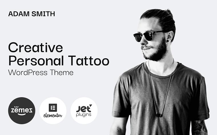 Atmospheric Adam Smith - Creative Personal Tattoo Pro WordPress Theme
