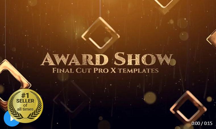 Award Show Final Cut Pro digital bestseller