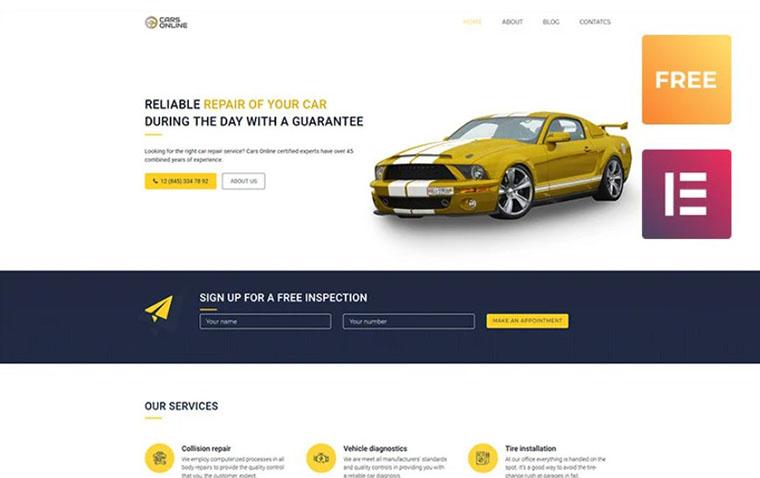 CarsOnline Elementor WordPress Theme