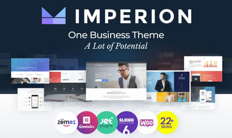 Imperion Elementor WordPress Theme - Business Ideas for Women