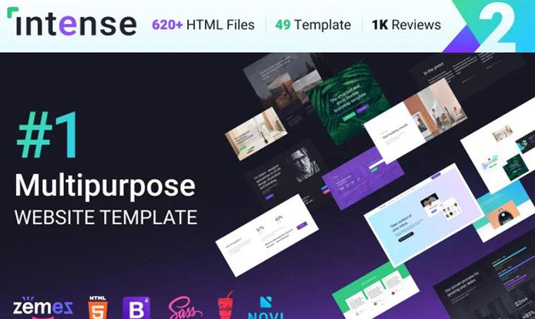 Intense Multipurpose HTML5 slider theme