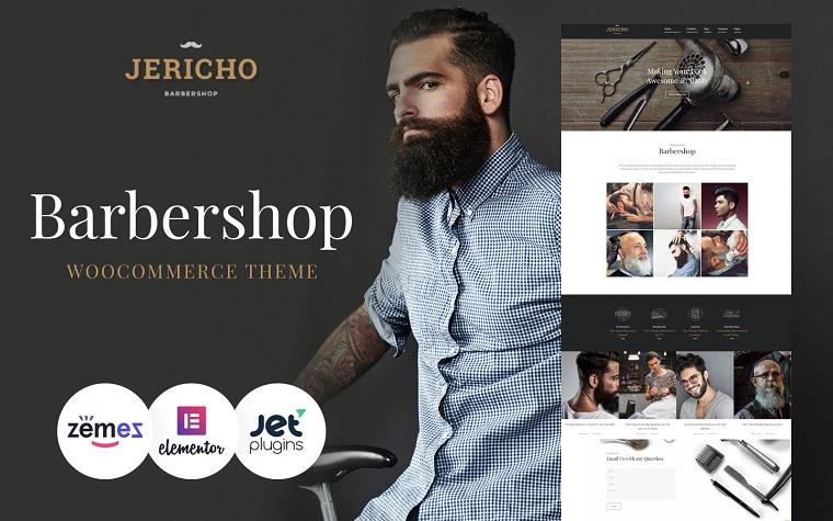 Stylish Jericho - Barber Shop Modern WordPress Theme