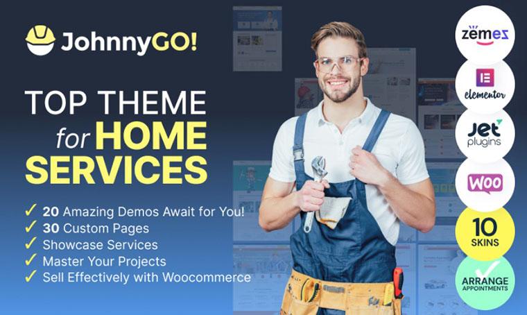 JohnnyGo Elementor WordPress Theme