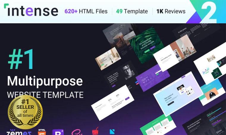 Intense Multipurpose HTML5 digital bestseller