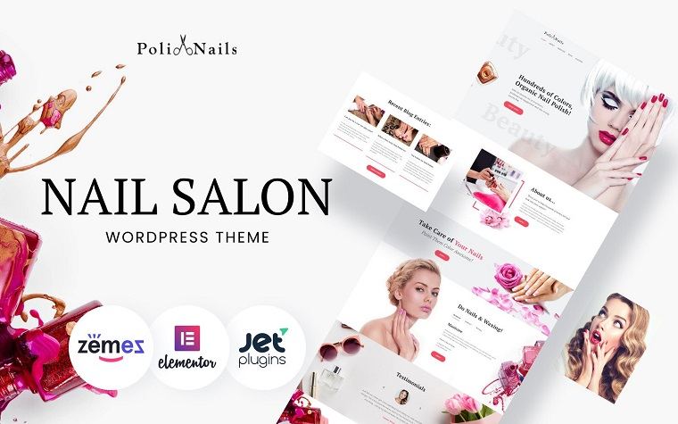 Fascinating Poli Nails - Nail Salon with Great Widgets and Elementor WordPress Theme