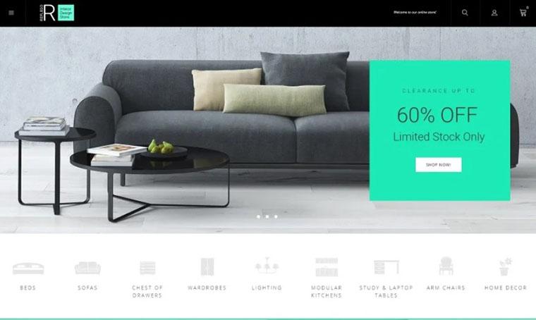 Reflego - furniture Magento slider theme