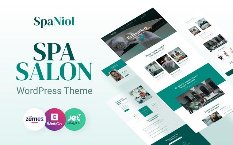 Versatile SpaNiol - Charming and Relaxing Spa WordPress Theme