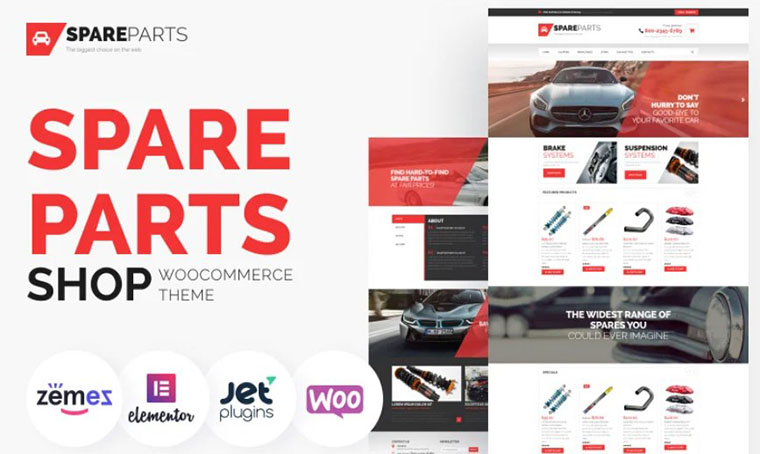 Spare Parts WooCommerce theme with slider