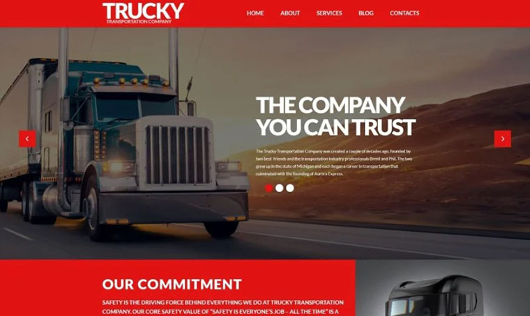 Trucky - Logistics WordPress theme with slider
