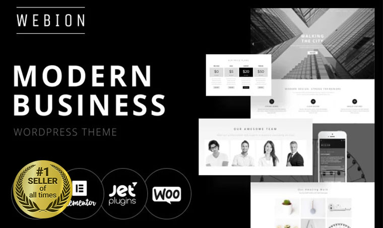 Webion WordPress digital bestseller