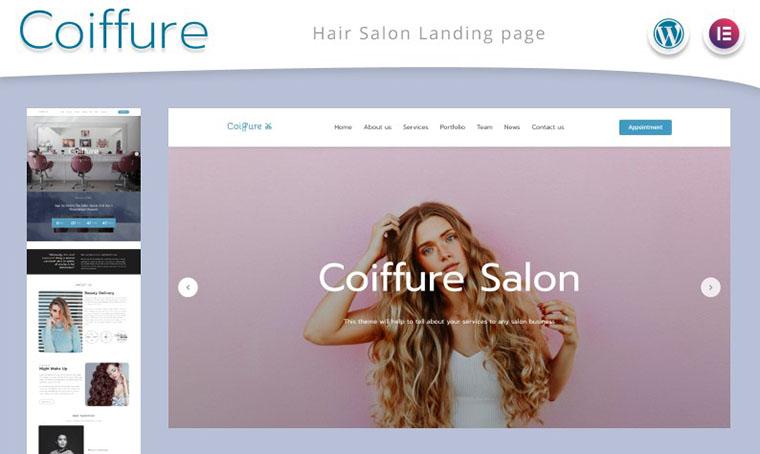 Coiffure Web Design for Women